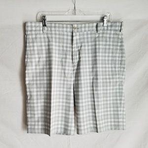 Nike Dri-Fit Gray and White Checkered Shorts